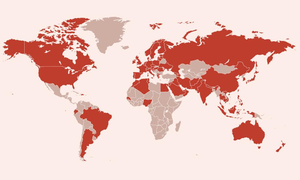 Bản đồ Covid-19 trên thế giới - VnExpress